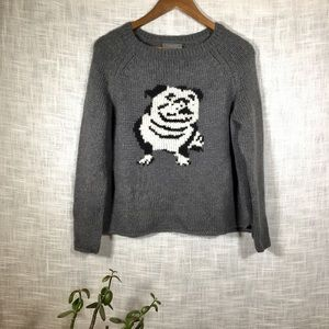NWT Wooden Ships Wool Blend Grey Dog Sweater